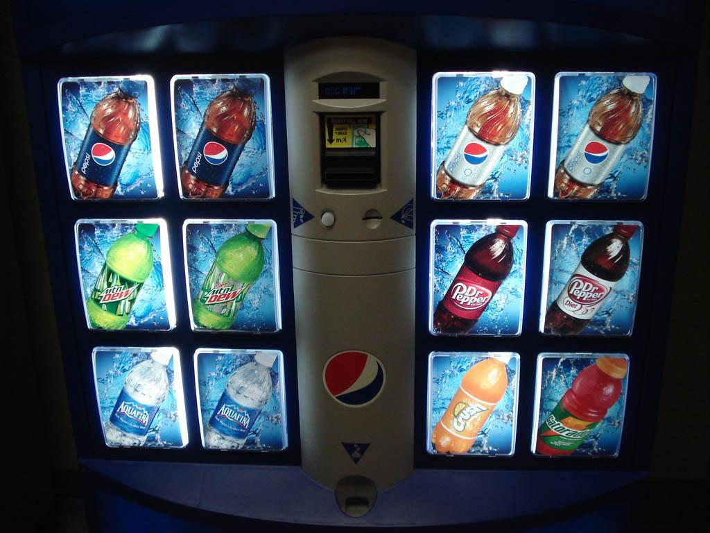 pepsi vending machine customer service